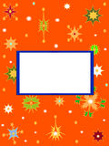 Background snowflakes Stock Images