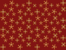 Background snowflakes. Background of falling snowflakes on red background - vector illustration Royalty Free Stock Photography