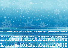 Background of snowflakes. Background of many big and small snowflake Stock Photo