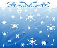 Background with snowflakes stock photos