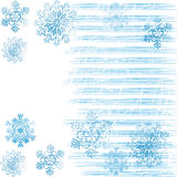 Background with snowflakes 2. Winter blue background with snowflakes Royalty Free Stock Image