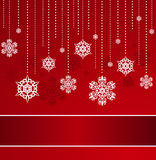 Background with snowflakes. Stock Images