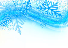 Background with snowflakes. In blue color Royalty Free Stock Image
