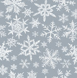 Background with a snowflakes Royalty Free Stock Photography