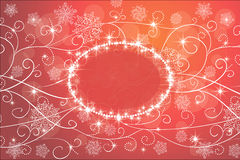 Background with snowflakes. Winter red magic background with snowflakes and stars Royalty Free Stock Image