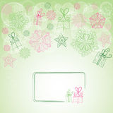 Background with snowflakes. Winter Christmas background with snowflakes and stars Vector Illustration
