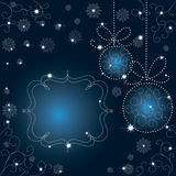 Background with snowflakes. Winter Christmas background with snowflakes and stars Royalty Free Stock Photo