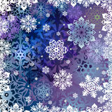 Background from snowflakes Stock Images