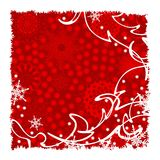 Background with snowflakes. And frame, illustration Royalty Free Stock Photos