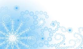 Background with snowflakes. Illustration with snowflakes on blue background Royalty Free Stock Photos