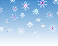 Background with snowflakes Stock Image