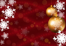 Background with snowflakes Royalty Free Stock Photography