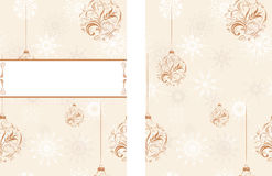 Background with snowflakes and Christmas balls Royalty Free Stock Photos