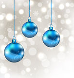 Background with snowflakes and Christmas balls Stock Photo