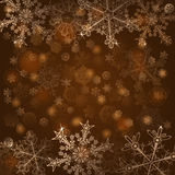 Background of snowflakes Stock Photography