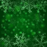 Background of snowflakes Stock Images