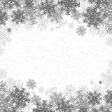 Background Snowflakes. Christmas Vector Background With Snowflakes On Paper Royalty Free Stock Image