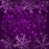 Background of snowflakes Stock Image