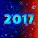 Background snowflakes 2017 for design. Background snowflakes 2017. New year, Vector illustration. Bokeh effect vector illustration