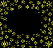 Background with snowflakes. Illustration on a black background with bright snowflakes vector illustration