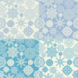 Background of snowflakes seamless Stock Photos