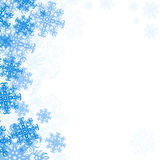 Background Snowflakes. Snowflake Christmas Background Vector Material Stock Image