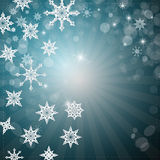 Background with Snowflakes, Stars. Abstract Winter Retro Background with Snowflakes, Stars Stock Images