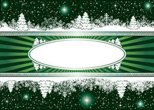 Background with snowflakes, stars and Christmas tr. Abstract winter background, with snowflakes, stars and Christmas tree, illustration Royalty Free Stock Photo