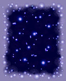 Background with snowflakes, stars and frost for Christmas. EPS10  illustration.  Royalty Free Stock Photo