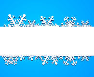 Background from snowflakes Stock Image