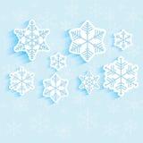 Background of snowflakes. Winter illustration stock illustration