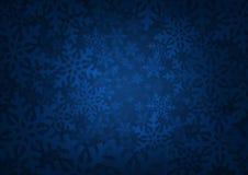 Background with snowflakes - Winter theme. Blue background with snowflake edges Royalty Free Stock Photos