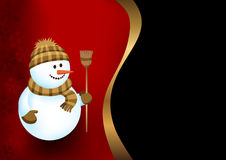 Background with a snowman Royalty Free Stock Images