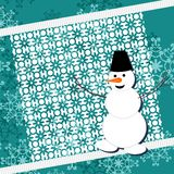 Background with snowman Royalty Free Stock Photos