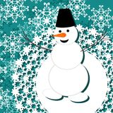 Background with snowman Stock Photography
