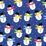 Background of the snowmen Royalty Free Stock Images