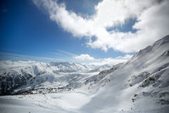 Background of snowy mountains Stock Images