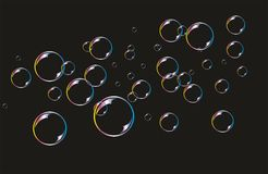 Background with soap bubbles Stock Photo