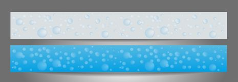 Background with soap bubbles. Set banners for the website. Cleaning service. Templates standard size. Vector illustration royalty free illustration