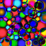 Background of soap bubbles. royalty free illustration