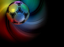 Background with soccer ball Stock Photo