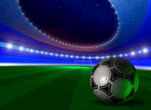Background with soccer ball Stock Photos