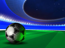 Background with soccer ball Royalty Free Stock Images