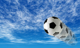 Background of a soccer ball. 3d background of a soccer ball Royalty Free Stock Images