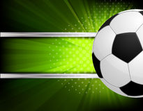 Background with soccer ball Stock Photography