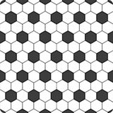 Background soccer ball. Black and white hexagon soccer ball background, vector Stock Images