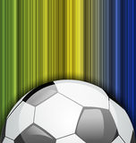Background with soccer ball, Brazil 2014 football  Stock Photos