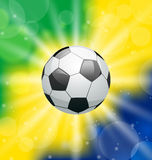 Background with soccer ball, for Brazil 2014 Royalty Free Stock Photography