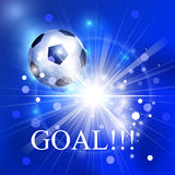 Background with soccer ball and flash Royalty Free Stock Photos