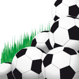 Background with soccer balls. Royalty Free Stock Photography